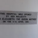 Duchy Hospital opening plaque